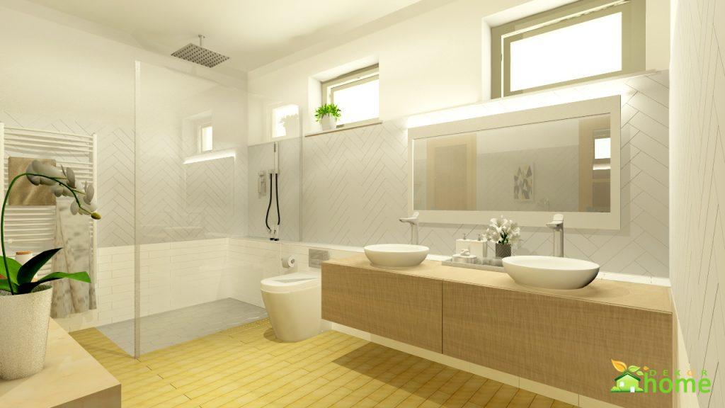 Skandináv hálószoba welness fürdőszoba