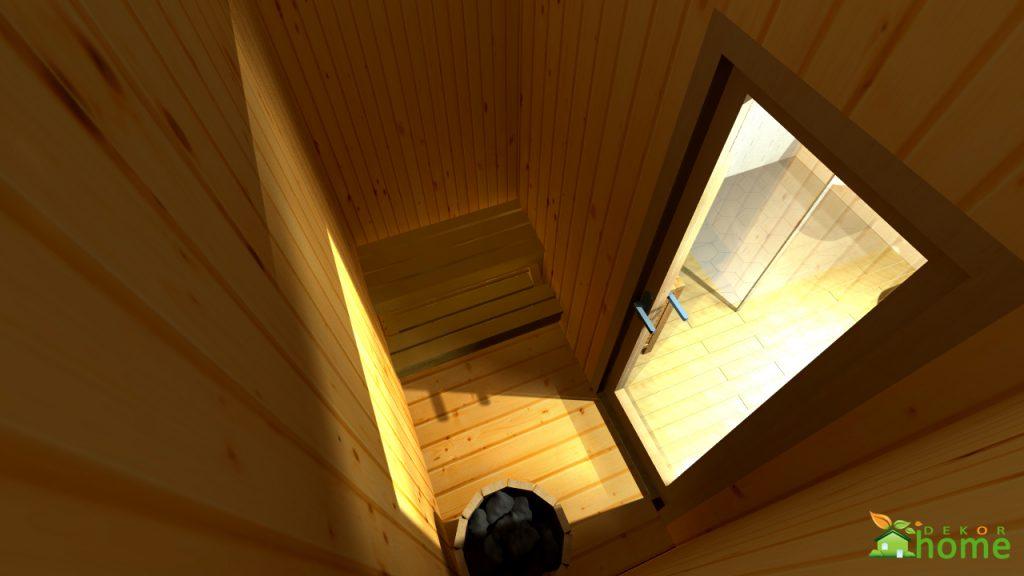 Skandináv hálószoba szauna