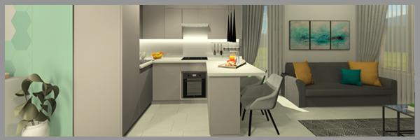 modern lakás berendezése