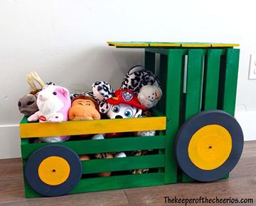 Traktoros játék tároló