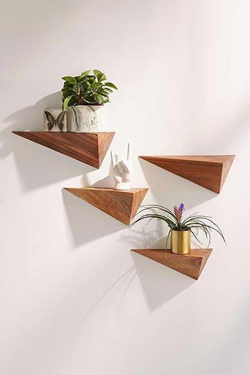háromszög alakú növény polcok