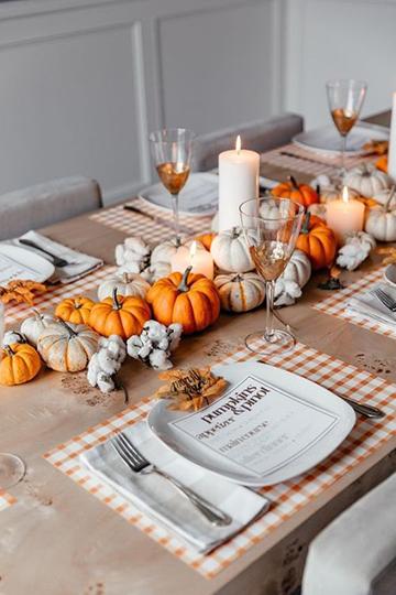 Őszi asztal dekoráció