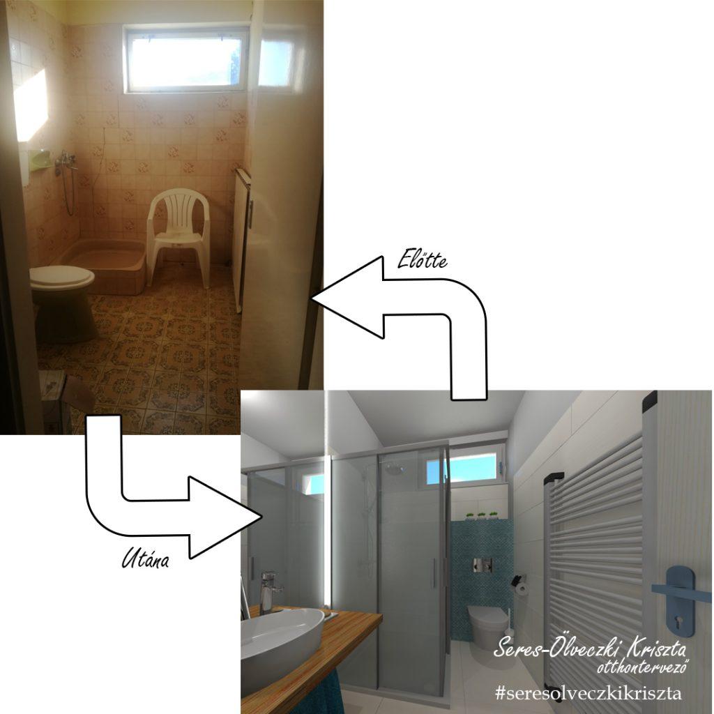 Zuhanyzós fürdőszoba