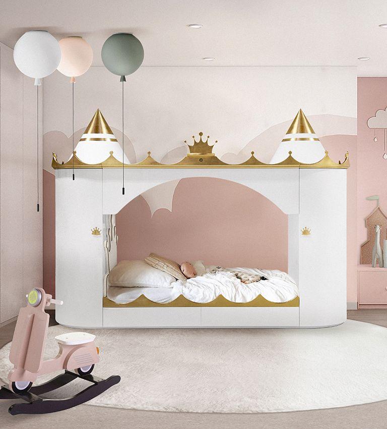 Kastély ágy gyerekszoba bútor