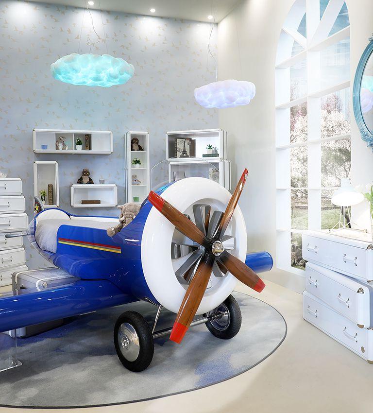 Egypropelleres repülős ágy fiús gyerekszoba
